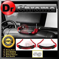 07-16 Jeep JK Wrangler Extreme RED Rear Side Grab Handle Set Windshield Pillar