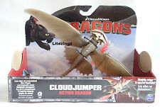 GENUINE HOW TO TRAIN YOUR DRAGON ACTION DRAGON CLOUDJUMPER FIRES RED FLAME Toy