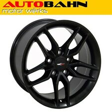17x9.5 Matte Black Corvette C7 Stingray Style Wheel Rim Camaro Firebird INV3831