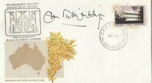 Stamp Australia on Golden Wattle generic cover R.A.I.A Victoria cachet, signed
