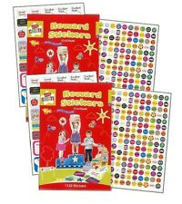 2 x 1000 VARIOUS BOY GIRL GOOD BEHAVIOUR REWARD STICKERS  SCHOOLS TEACHERS STFA