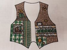 Northern Woods Vest Fabric Panel Vintage Cut & Sew With Appliques Adult Size