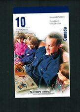 1996 CANADA STAMPS  BOOKLET  BK193  B13   CANADIAN LITERACY   JT18