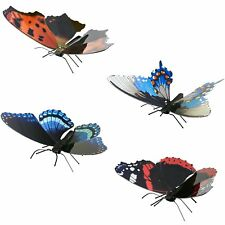 Set of 4 Fascinations Metal Earth BUTTERFLY 3D Laser Cut Steel Puzzle Model Kits