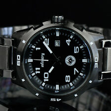 🎁 INFANTRY Mens Analog Wrist Watch Luxury Sport Army Black Gray Stainless Steel