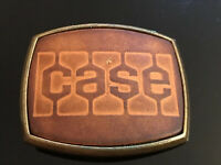 Rare Case El CID Belt Buckle Vintage Brass & Leather