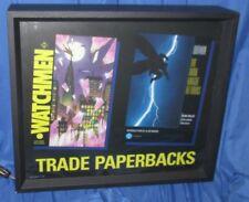 BATMAN: DARK KNIGHT RETURNS & WATCHMEN Promo Light Up Sign 1989 ~VINTAGE