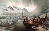 """high quality oil painting handpainted on canvas """"Shipwreck Victims on Ice Floe"""""""