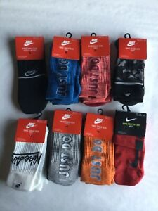 Nike Sneaker Socks Crew Ankle No Show Just Do It New Tags
