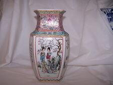Fine FAMILLE ROSE & POEMS Chinese Republic Porcelain Vase Jingdezhen   China