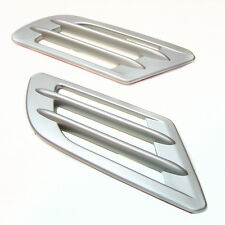 2x Silver Wing Air Side Vent Trim Intake Fender Cover Duct Flow Grille Sticker