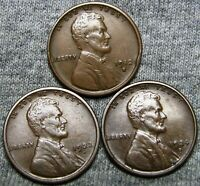 1912-S 1922-D 1924-S Lincoln Cent Wheat Penny ---- NICE Lot ---- Q873
