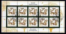 BRD 1999 ESST Bonn gestempelt Kleinbogen MiNr. 2086 Bedrohte Tierarten
