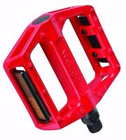 """Pair Of Savage Wellgo Red Alloy 9/16"""" Bike Bicycle BMX MTB DH Platform Pedals"""