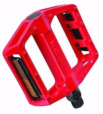 "Pair Of Savage Wellgo Red Alloy 9/16"" Bike Bicycle BMX MTB DH Platform Pedals"