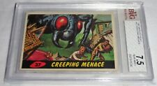 1962 Mars Attacks Card #37 Creeping Menace Topps Bubbles Terror Horror Suspense