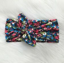Knotted Bow Headband In Floral Blooms Bow Head Wrap Women's Headband Hair Band