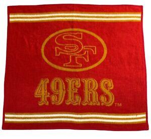 Vtg San Francisco 49ers Biederlack Throw Blanket Made In USA Decor NFL 55 x 48