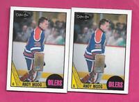 2 X 1987-88 OPC # 204 OILERS ANDY MOOG GOALIE NRMT-MT CARD (INV# C4557)