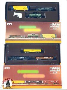 Z 1:220 scale Märklin model trains Set USA freight cars 8206 8687