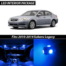 2010-2014 Subaru Legacy Blue Interior LED Lights Package Kit