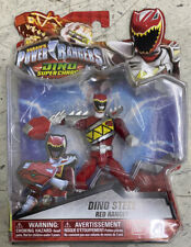 "Power Rangers Dino Super Charge 5"" Dino Steel Red Ranger Brand New In Stock"