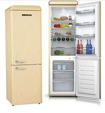 Schneider Retro Kühl-Gefrierkombination, Retro-Kühlschrank Creme Glänzend