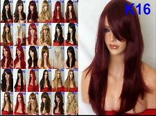 Wig Fashion Layered Mid Lenght Heat Resistant Synthetic Hair Wig - Red