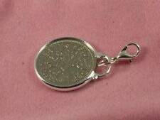 1957 63rd Birthday lucky sixpence coin bracelet charm ready to hang
