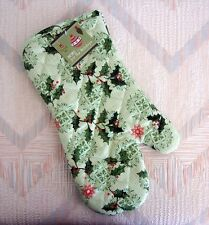 Christmas Holly Oven Mitt Holly Holiday Pattern Kay Dee