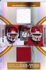 adrian peterson rc roy williams dual jersey patch college sooners ou #/200 2007