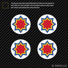 "(4x) 1.5"" Moldovan Air Force Roundel Sticker Die Cut Decal Moldova MDA MD"