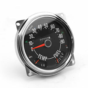 OMIX-ADA Replacement Speedometer Cluster Assy 0-90 MPH FOR 55-79 Jeep CJ5 CJ7