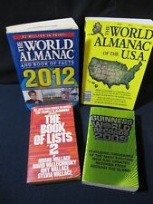 World Almanac: 2009, 2012, U.S.A. and Book of Lists 2 - Incl. Shipping!
