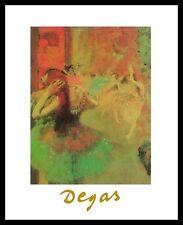 Edgar Degas Ballett Poster Bild Kunstdruck mit Alu Rahmen in schwarz 30x24cm
