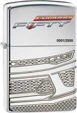 Zippo Camaro 50th Anniversary Limited Edition High Polish Chrome Lighter 29478