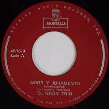 EL GRAN TRIO: Borrasca / Amor y Juramento MONTILLA Latin 45 NM- Hear