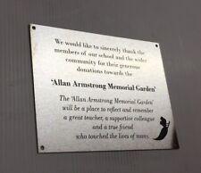 Grave Memorial Customised Engraved Stainless Steel, 200 x 150 mm