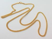 Pure 18k Yellow Gold Men Women 2mm W Curb Chain Necklace/3g/ 22''