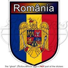 "ROMANIA Romanian Shield 4"" (100mm) Vinyl Bumper Sticker Decal"