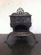 Antique Victorian Gypsy Queenie Stratford Small Cast Iron Stove Fireplace TA128