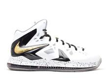 Nike LeBron 10 X Elite P.S. White Gold Size 13. 579834-100