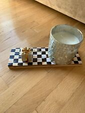 Mackenzie Childs Courtly Check Handmade Sign Tray Wedding With Authentic Paper