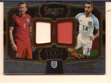 HARRY KANE & THEO WALCOTT 2017-18 PANINI SELECT SOCCER DUAL JERSEY RELIC