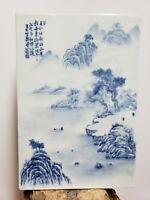 Fine Old Chinese Porcelain Blue&White Plaque{ Landscape}