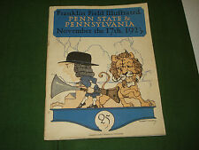VINTAGE COLLEGE FOOTBALL PROGRAM PENN STATE v. PENNSYLVANIA from  NOV. 17, 1923