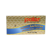 Flat Fillets of Anchovies in Pure Olive Oil 2 oz