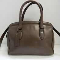 Coach Italy 4410 Taupe Leather Convertible Satchel Crossbody Bag