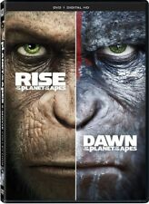 Rise of the Planet of the Apes / Dawn of the Planet of the Apes [New DVD] 2 Pa