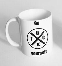 Go Fu*k Yourself Design Printed Cup Ceramic Novelty Mug Funny Gift Coffee Tea